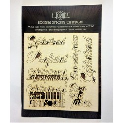 (TEKST_311)Filigranki Laser Cut Chipboards DUTCH TEXT