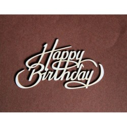 (TEKST_007d)Filigranki Laser Cut Chipboards Happy Birthday