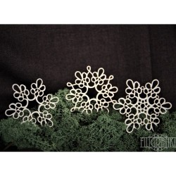 (PANEL_051)Filigranki Laser Cut Chipboards LACE DOILY 3pcs