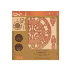 (2329E)Tonic Studios Die - Media Die Set - Traditional Timepiece