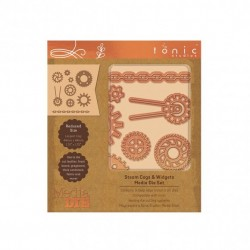 (2328E)Tonic Studios Die - Media Die Set - Steam & Cogs