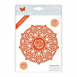 (2271E)Tonic Studios doily die set crocheted