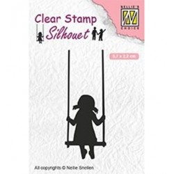 (SIL045)Nellie`s Choice Clearstamp - Swinging