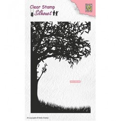 (SIL048)Nellie`s Choice Clearstamp - Scene with tree