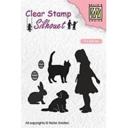 (SIL050)Nellie`s Choice Clearstamp - Animal lover