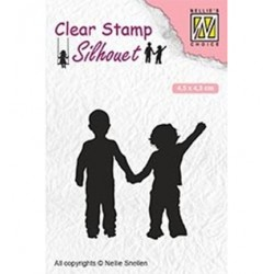 (SIL051)Nellie`s Choice Clearstamp - Close friendship