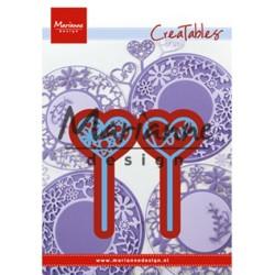 (LR0573)Creatables Heart pins (set of 2)