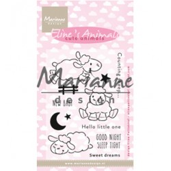 (ec0175)Clear Stamp Eline's Cute Animals - Sheep