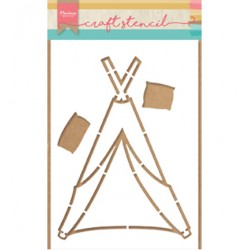 (PS8021)Marianne Design Craft stencil: Tipi by Marleen