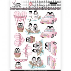 (SB10325)3D Pushout - Yvonne Creations- Pretty Pierrot 2 - Car Trip