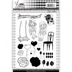 (YCCS10047)Clear Stamps - Yvonne Creations- Pretty Pierrot 3