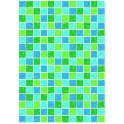 Pergamano vellum mosaic green-blue 1S (61768)