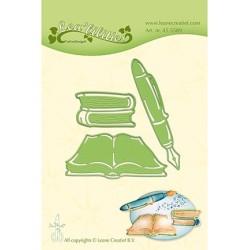 (45.5589)Lea'bilitie Cutting/Emb Patch die Books & Pen