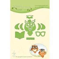 (45.5596)Lea'bilitie Cutting/Emb Patch die Owl / Graduation