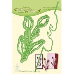 (45.5626)Lea'bilitie Cutting/Emb Patch die Silhouette Tulip
