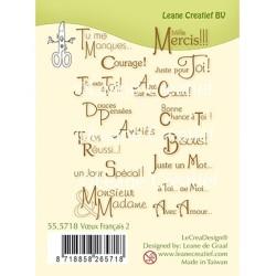 (55.5718)Clear Stamp Voeux / Texte Français 2