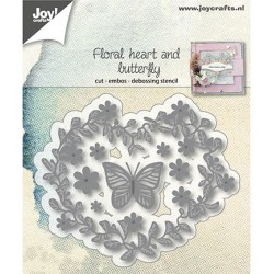 (6002/1172)Cutting, Embossing & Debossing Flowerhart and butterfly