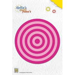 (MFD085)Nellies Choice Multi Frame Dies - Straight dotted round