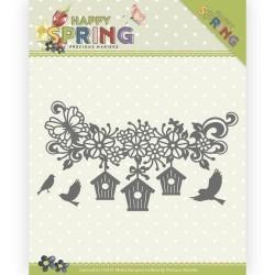 (PM10148)Dies - Precious Marieke - Happy Spring - Happy Birdhouses