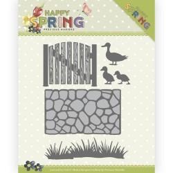 (PM10149)Dies - Precious Marieke - Happy Spring - Garden