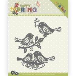 (PM10150)Dies - Precious Marieke - Happy Spring - Spring Bird