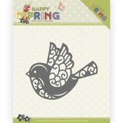 (PM10151)Dies - Precious Marieke - Happy Spring - Happy Bird
