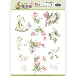 (SB10330)3D Pushout - Precious Marieke - Happy Spring - Happy Spring Flowers