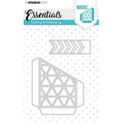 (STENCILSL144)Studio Light Cutting and Embossing Die, Essentials nr.144