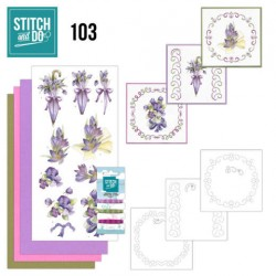 (STDO103)Stitch and Do 103 Flowers in Purple