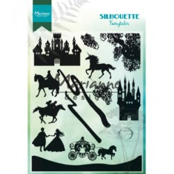 (CS1020)Clear stamp Silhouette Fairytales