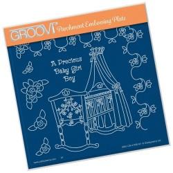 (GRO-CN-41166-03)Groovi Plate A5 LINDA'S A PRECIOUS BABY