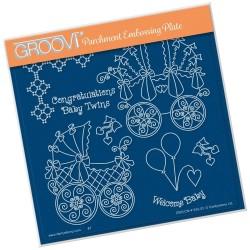 (GRO-CN-41163-03)Groovi Plate A5 LINDA'S CONGRATULATIONS