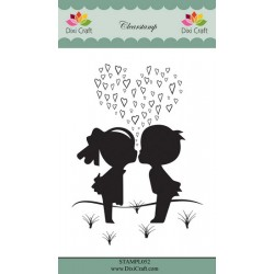 (STAMPL052)Dixi Craft Clear Stamp young love
