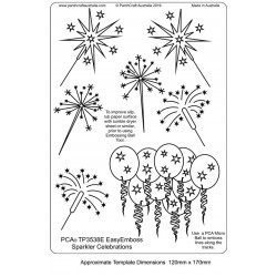 (TP3538E)PCA® - EasyEmboss Sparkler Celebrations