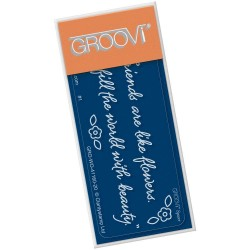 (GRO-WO-41160-20)Groovi® PLATE SPACER FRIENDS ARE LIKE FLOWERS