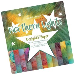 "(ACC-CA-30746-12)GROOVI DESIGNER CRAFT PAPER 12"" X 12"" NORTHEN LIGHTS"