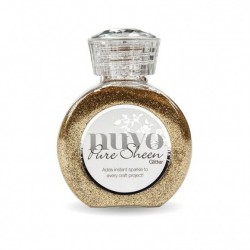 (718N)Tonic Studios Nuvo pure sheen glitter 100ml rose gold