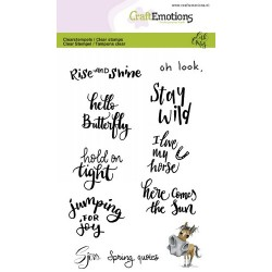 (1610)CraftEmotions clearstamps A6 - Sjors Spring quotes (Eng) Carla Creaties