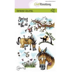 (1613)CraftEmotions clearstamps A6 - Sjors 3 Spring Carla Creaties