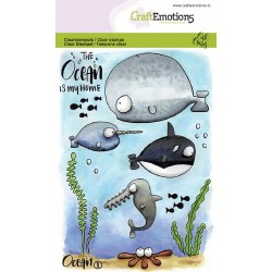 (1621)CraftEmotions clearstamps A6 - Ocean 1 Carla Creaties