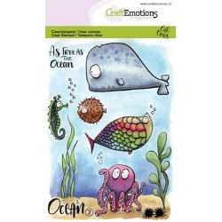 (1622)CraftEmotions clearstamps A6 - Ocean 2 Carla Creaties