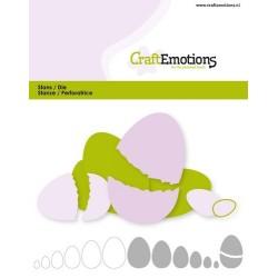 (115633/0821)CraftEmotions Die - edges egg Card