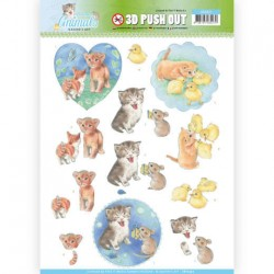 (SB10337)3D Pushout - Jeanine's Art - Young Animals - Kittens