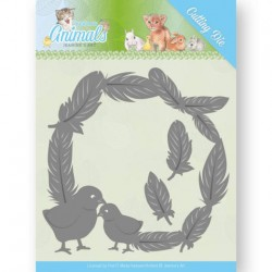 (JAD10067)Dies - Jeanine's Art - Young Animals - Feathers all Around