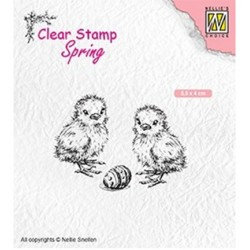 (SPCS008)Nellie`s Choice Clearstamp - Spring- Chicken and Easter egg