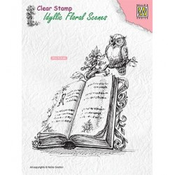 (IFS013)Nellie`s Choice Clearstamp - Book with owl