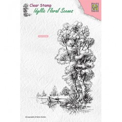 (IFS014)Nellie`s Choice Clearstamp - Tree with boat