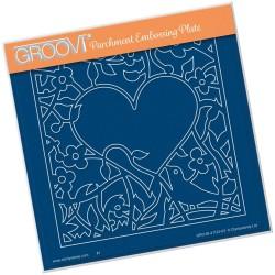 (GRO-BI-41123-03)Groovi Plate A5 BIRD HEART SPRIG