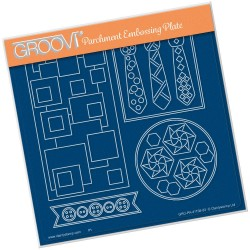(GRO-PA-41158-03)Groovi Plate A5 TINA'S FUNKY TIES & BUTTONS