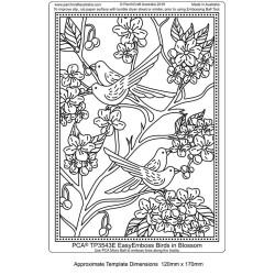 (TP3543E)PCA® - EasyEmboss Birds in Blossom
